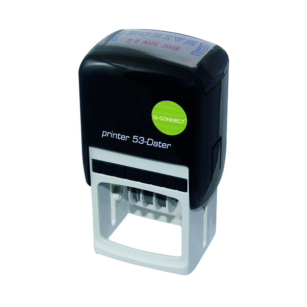 Bespoke Q-Connect Voucher for Custom Self-Inking Date Stamp 43 x 28mm KF71433