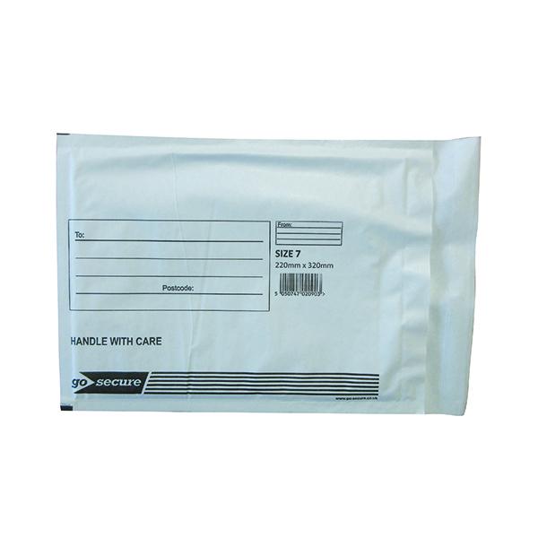 Bubble GoSecure Bubble Lined Envelope Size 7 230x340mm White (50 Pack) KF71451