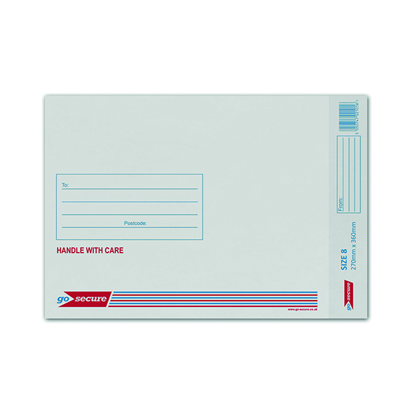 GoSecure Bubble Lined Envelope Size 8 270x360mm White (50 Pack) KF71454