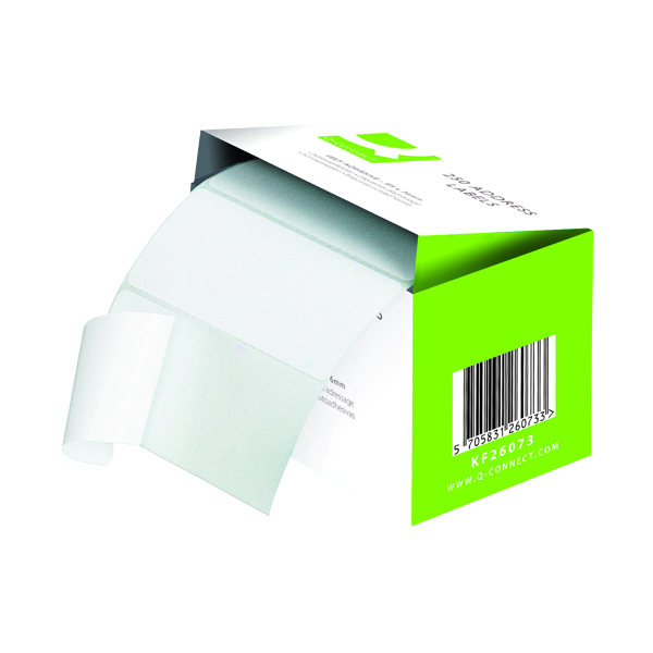 Unspecified Q-Connect Address Label Roll Self Adhesive 102x49mm White (180 Pack) 0073024