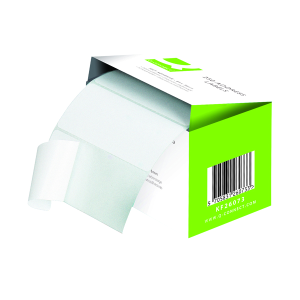 Unspecified Q-Connect Address Label Roll Self Adhesive 76x50mm White (1500 Pack) 9320029
