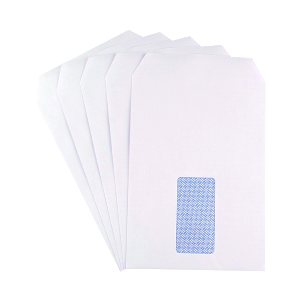 Q-Connect C5 Envelopes Window Pocket Self Seal 90gsm White (500 Pack) 9000020