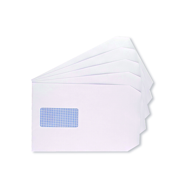 Q-Connect C5 Envelopes Window Pocket Self Seal 100gsm White (500 Pack) 9007500
