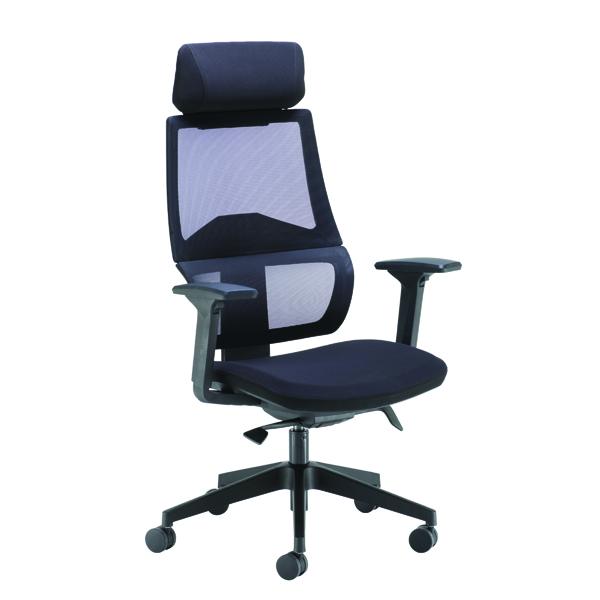 Executive Chairs Arista Cadence High Back Executive Mesh Chair Black KF71481