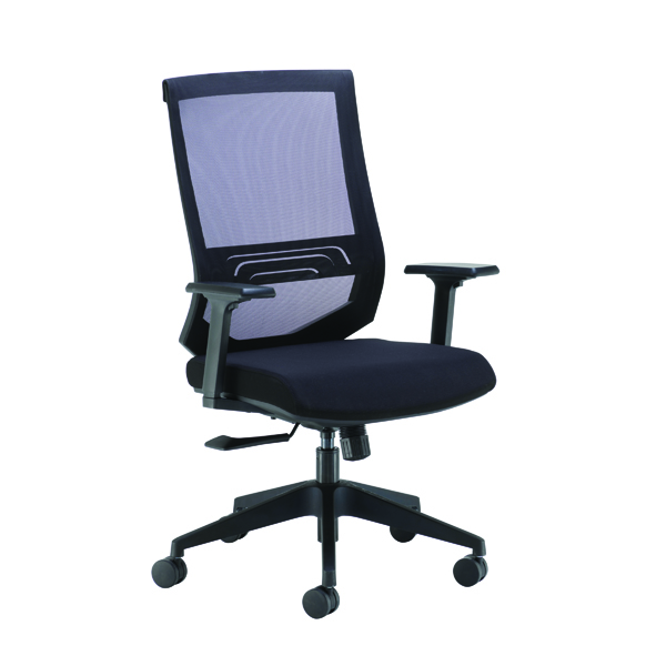 High Back Arista Octave High Back Executive Mesh Chair Black KF71482