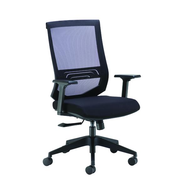 Executive Chairs Arista Octave High Back Executive Mesh Chair Black KF71482
