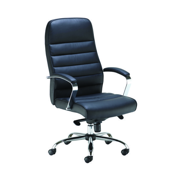 High Back Jemini Ares Executive Chair PU Black KF71521