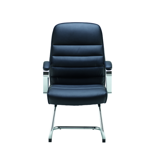 Reception Chairs Jemini Ares Visitor Chair PU Black KF71522