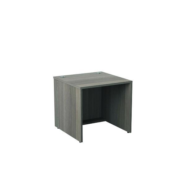 Reception Jemini Reception Modular Desk Unit 800mm Grey Oak RCM800SBUGO