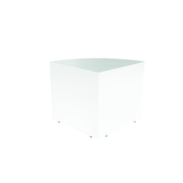 Reception Jemini Reception Modular Corner Desk Unit White RCMCBWH