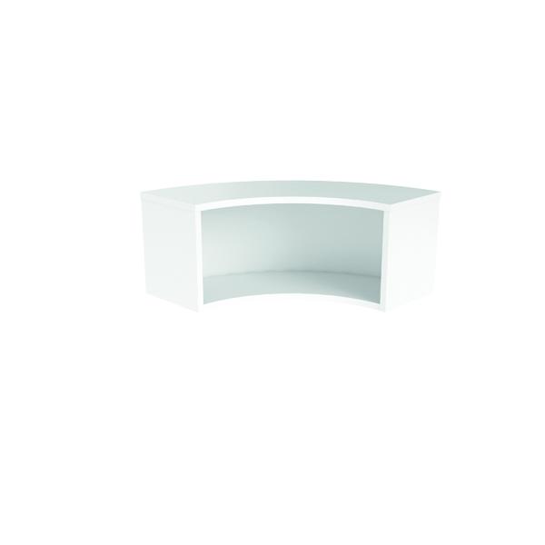 Reception Jemini Reception Modular Corner Riser Unit White RCMCHWH