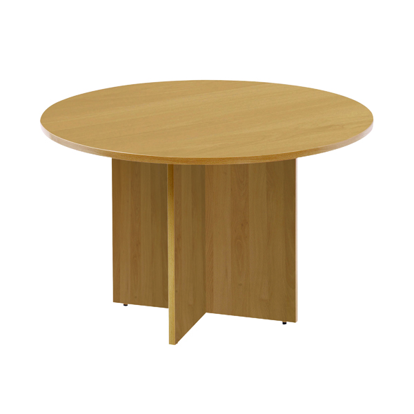 Office Arista Maple 1100mm Round Meeting Table KF72049