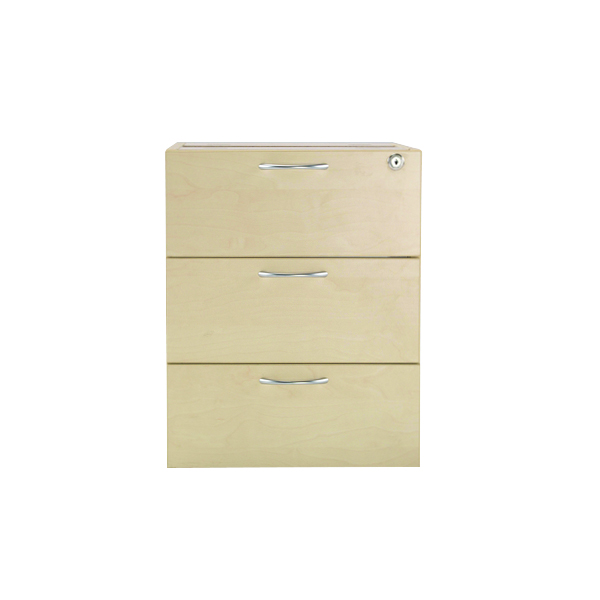 Jemini Maple 3 Drawer Fixed Pedestal KF72080