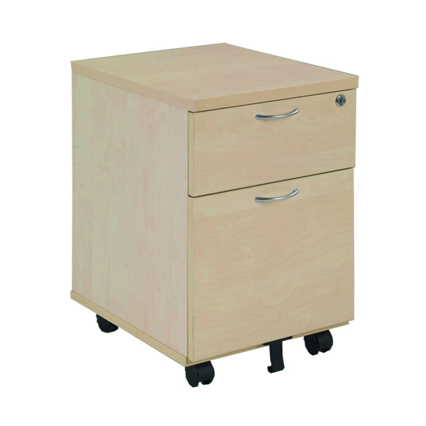 2 Drawer Jemini Maple 2 Drawer Mobile Pedestal KF72083
