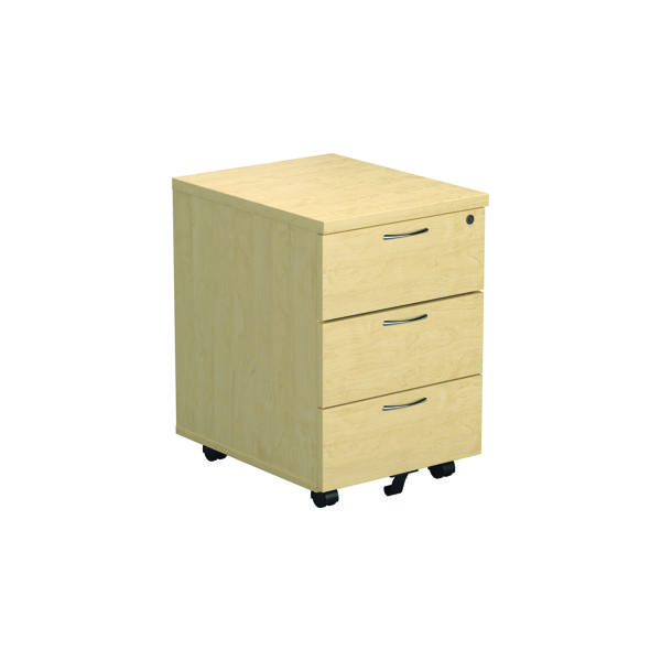 Three Drawer Jemini Maple 3 Drawer Mobile Pedestal KF72086