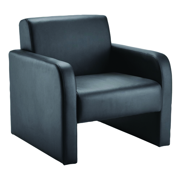 Unspecified Arista Flat Pack Leather Look Black Reception Chair KF72153