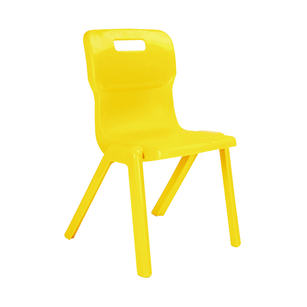 Seating Titan One Piece Chair 350mm Yellow KF72163