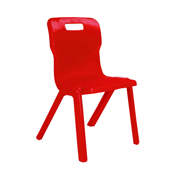 Seating Titan One Piece Chair 460mm Red KF72174