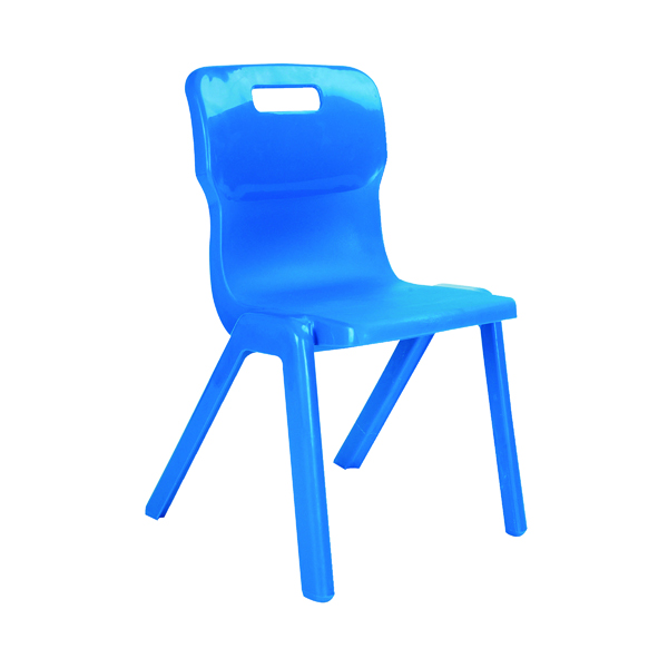 Seating Titan One Piece Chair 460mm Blue KF72175