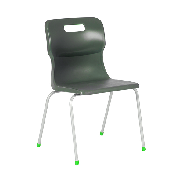 Titan 4 Leg Chair 430mm Charcoal KF72192