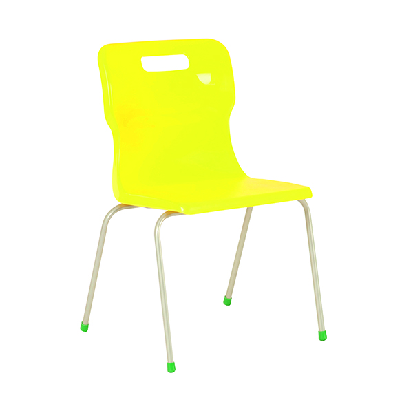 Titan 4 Leg Chair 430mm Yellow KF72193