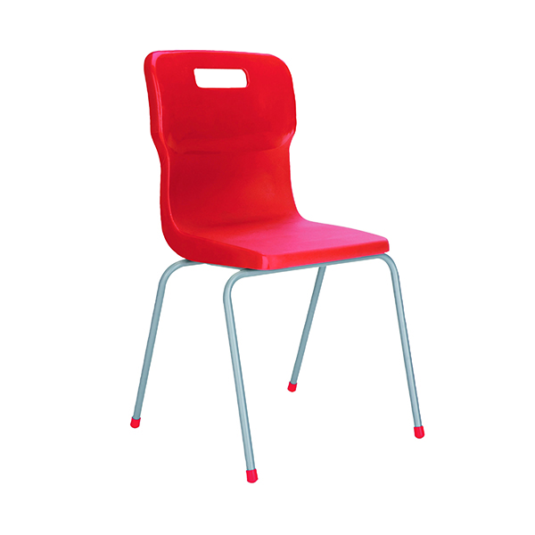 Titan 4 Leg Chair 460mm Red KF72194