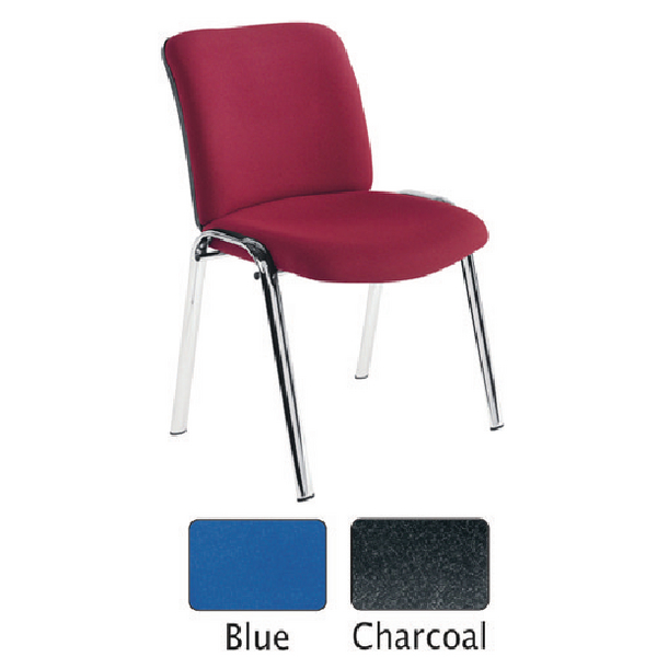 Stacking Avior Conference High Back Chrome Chair Blue KF72259