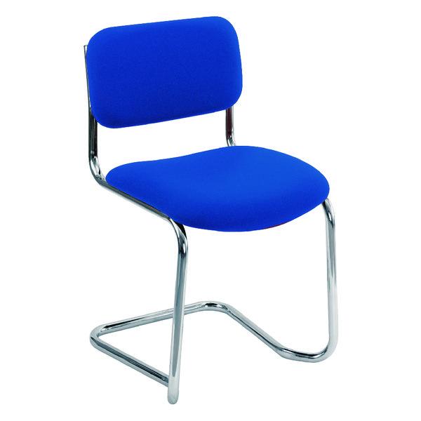 Arista Blue Cantilever Leg Meeting Chair CH0501