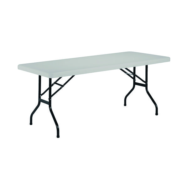 Folding Jemini White 1220mm Folding Rectangular Table KF72328
