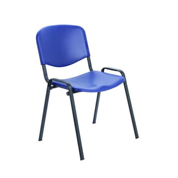 Stacking Jemini Multi Purpose Polypropylene Stacking Chair Blue KF72368