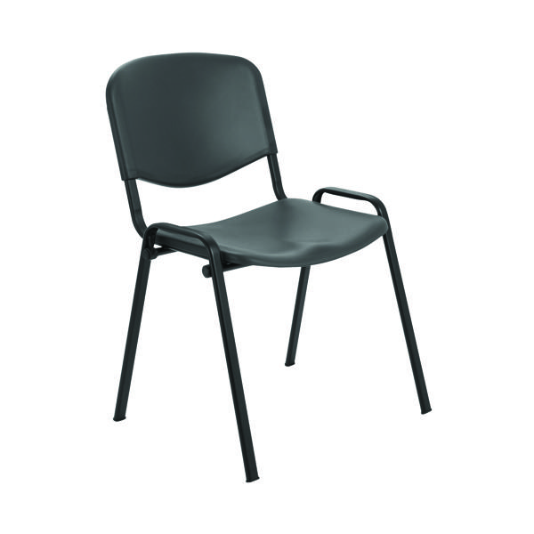 Stacking Jemini Multi Purpose Polypropylene Stacking Chair Charcoal KF72369