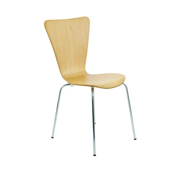 Arista Beech/Silver Picasso Wooden Chair (4 Pack) KF72460