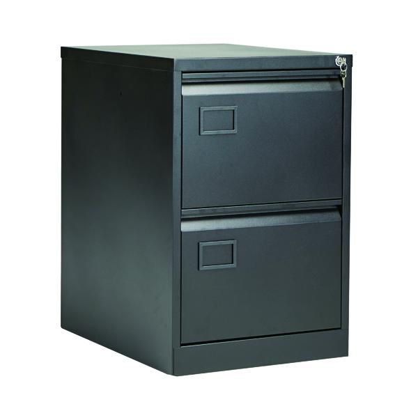 Jemini 2 Drawer Filing Cabinet Black KF72585
