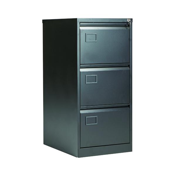 Wood Jemini 3 Drawer Filing Cabinet Black KF72586