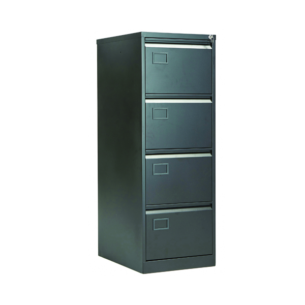 Four Drawer Jemini 4 Drawer Filing Cabinet Black KF72587