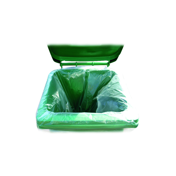 2Work Wheelie Bin Liner Clear (100 Pack) KF73374