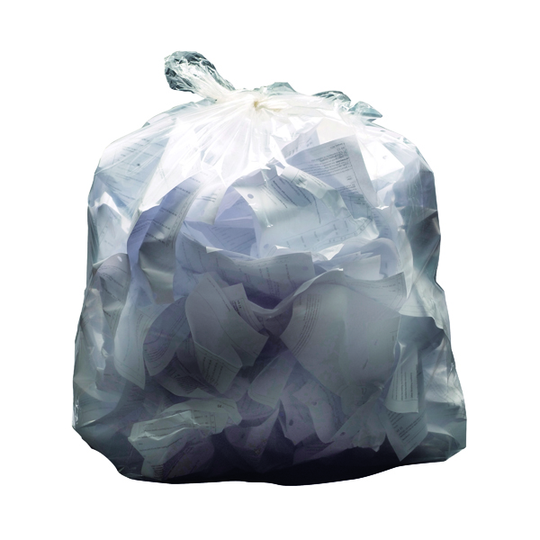 2Work Light Duty Refuse Sack Clear (200 Pack) KF73377