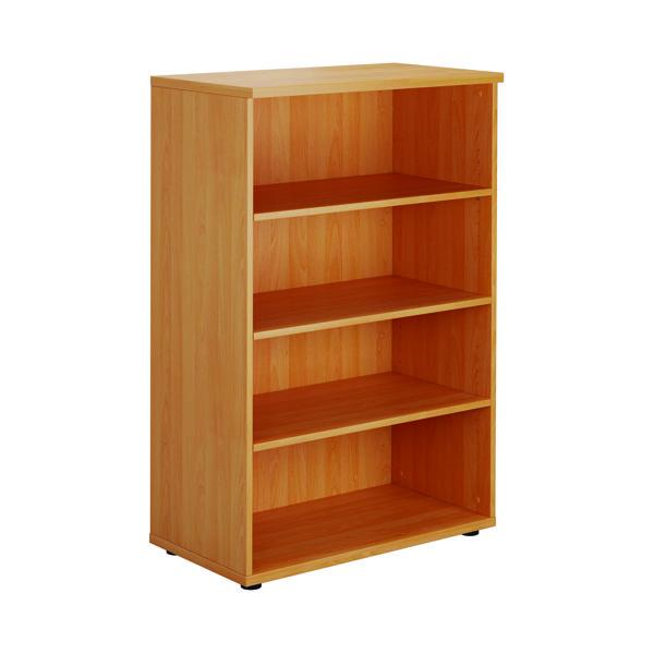 H up to 1200mm Serrion Bavarian Beech 1200mm Medium Bookcase KF73512