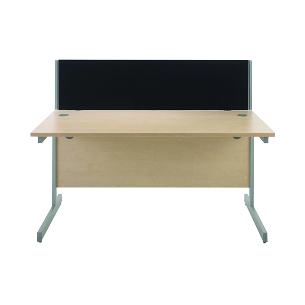 Jemini Black 1200mm Straight Desk Screen KF73912
