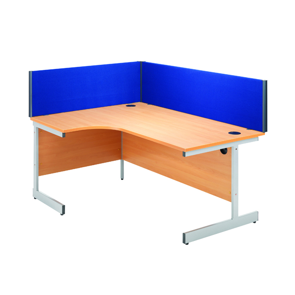Desk Jemini Blue 1200mm Straight Desk Screen KF73913