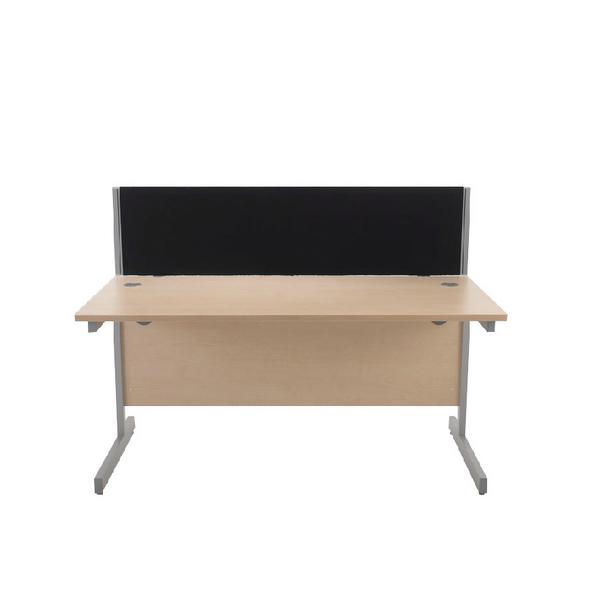 Desk Jemini Black 1600mm Straight Desk Screen KF73916