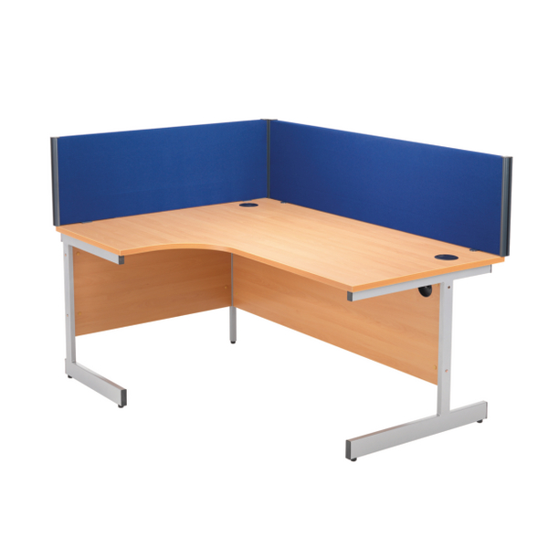 Desk Jemini Blue 1600mm Straight Desk Screen KF73917
