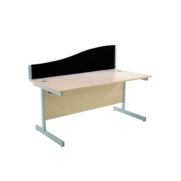 Jemini 800mm Black Wave Desk Screen KF73920