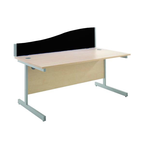 Desk Jemini Black 1600mm Wave Desk Screen KF73926