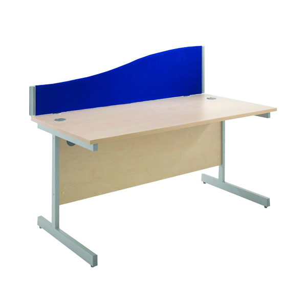 Jemini Blue 1600mm Wave Desk Screen KF73927