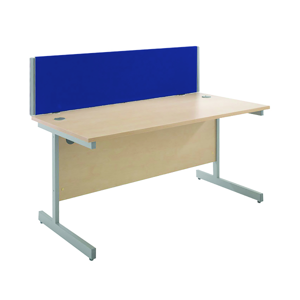 Desk Jemini Blue 1500mm Straight Desk Screen KF74004