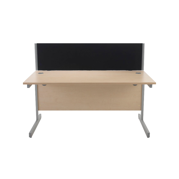 Desk Jemini Black 1500mm Straight Desk Screen KF74005