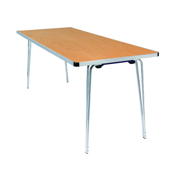 Folding Jemini Saxon Oak W1830xD685xH698mm Folding Table KF74024