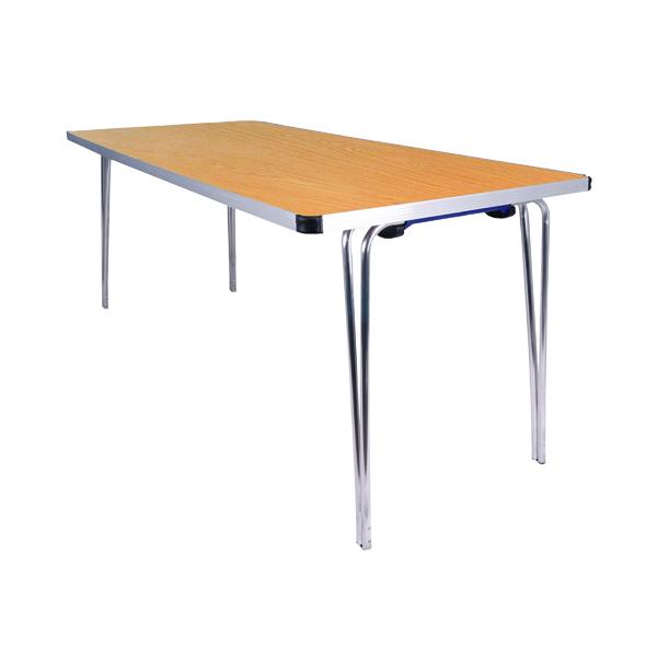 Folding Jemini Saxon Oak W1520xD685xH698mm Folding Table KF74025