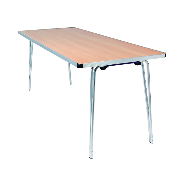 Folding Jemini Japanese Beech W1830xD685xH698mm Aluminium Rectangular Folding Table KF74026
